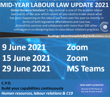 MID-YEAR LABOUR LAW UPDATE 2021